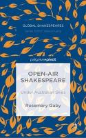 Open-Air Shakespeare: Under Australian Skies