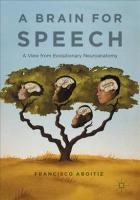 Brain for Speech: A View from Evolutionary Neuroanatomy 1st ed. 2017