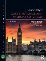 Unlocking Constitutional and Administrative Law 4th New edition