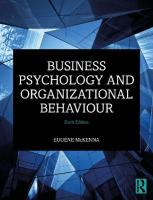 Business Psychology and Organizational Behaviour 6th New edition