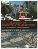 Introduction to Sustainable Transportation: Policy, Planning and Implementation 2nd New edition