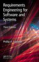 Requirements Engineering for Software and Systems, Third Edition 3rd New edition