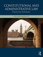 Constitutional & Administrative Law 12th New edition