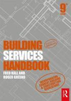 Building Services Handbook 9th New edition