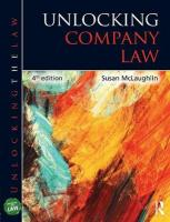 Unlocking Company Law 4th New edition