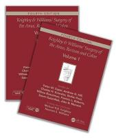 Keighley & Williams' Surgery of the Anus, Rectum and Colon, Fourth Edition: Two-volume set 4th New edition
