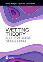 Wetting: Theory and Experiments, Two-Volume Set: Theory and Experiments