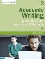 Academic Writing: A Handbook for International Students 4th Revised edition