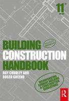 Building Construction Handbook 11th New edition