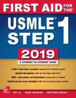 First Aid for the USMLE Step 1 2019,  Twenty-ninth edition 29th edition