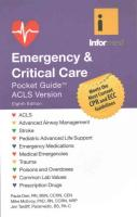 Emergency  &  Critical Care Pocket Guide 8th Revised edition