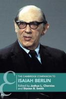 Cambridge Companions to Philosophy, The Cambridge Companion to Isaiah Berlin