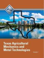 NCCER Agricultural Mechanics and Metal Technologies: Volume 1 Texas Student ed, Volume 1