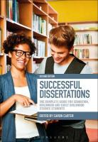Successful Dissertations: The Complete Guide for Education, Childhood and Early Childhood Studies   Students 2nd Revised edition