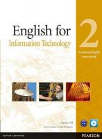 English for IT Level 2 Coursebook and CD-ROM Pack, Level 2