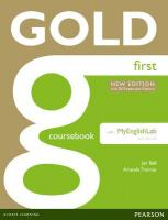 Gold Coursebook with MyFCELab Pack 1st New edition