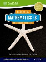 Essential Mathematics for Cambridge Lower Secondary Stage 8 New edition, Stage 8, Pupil Book