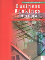Business Rankings Annual: 4 Volume Set: List of Companies, Products, Services, and Activities Compiled   from a Variety of Publisherd Sources