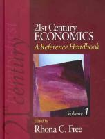 21st Century Economics: A Reference Handbook: A Reference Handbook