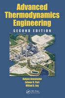 Advanced Thermodynamics Engineering 2nd New edition