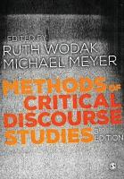 Methods of Critical Discourse Studies 3rd Revised edition