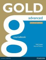 Gold Advanced Coursebook New edition, Advanced, Gold Advanced Coursebook
