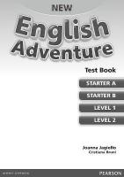 New English Adventure GL Tests 2nd Teacher's edition