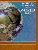 Political Handbook of the World 2013 2013 Revised ed.