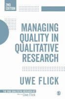 Managing Quality in Qualitative Research 2nd Revised edition