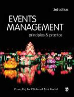 Events Management: Principles and Practice 3rd Revised edition