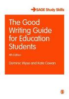 Good Writing Guide for Education Students 4th Revised edition