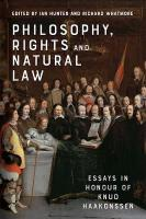 Philosophy, Rights and Natural Law: Essays in Honour of Knud Haakonssen