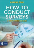 How to Conduct Surveys: A Step-by-Step Guide 6th Revised edition