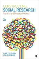 Constructing Social Research: The Unity and Diversity of Method 3rd Revised edition