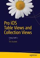 Pro iOS Table Views and Collection Views 2015 1st ed.