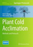 Plant Cold Acclimation: Methods and Protocols Softcover reprint of the original 1st ed. 2014