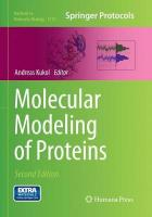 Molecular Modeling of Proteins Softcover reprint of the original 2nd ed. 2015
