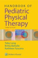 Handbook of Pediatric Physical Therapy 3rd edition