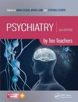 Psychiatry by Ten Teachers 2nd New edition