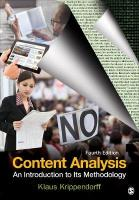 Content Analysis: An Introduction to Its Methodology 4th Revised edition