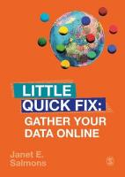 Gather Your Data Online: Little Quick Fix