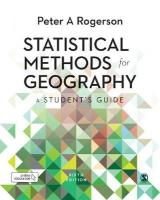 Statistical Methods for Geography: A Student's Guide 5th Revised edition