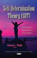 Self-Determination Theory (SDT): Perspective, Applications & Impact