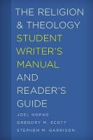 Religion and Theology Student Writer's Manual and Reader's Guide