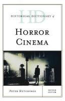Historical Dictionary of Horror Cinema Second Edition