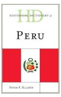Historical Dictionary of Peru