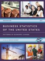 Business Statistics of the United States 2017: Patterns of Economic Change 22nd Edition