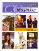 CQ Researcher Bound Volume 2010 2010 Revised ed., Bound Volume