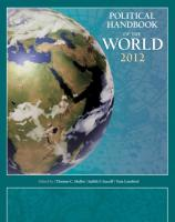 Political Handbook of the World 2012 2012 2012 ed.