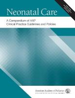 Neonatal Care: A Compendium of AAP Clinical Practice Guidelines and Policies